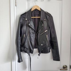 EUC 100% Genuine Leather Jacket from Zara